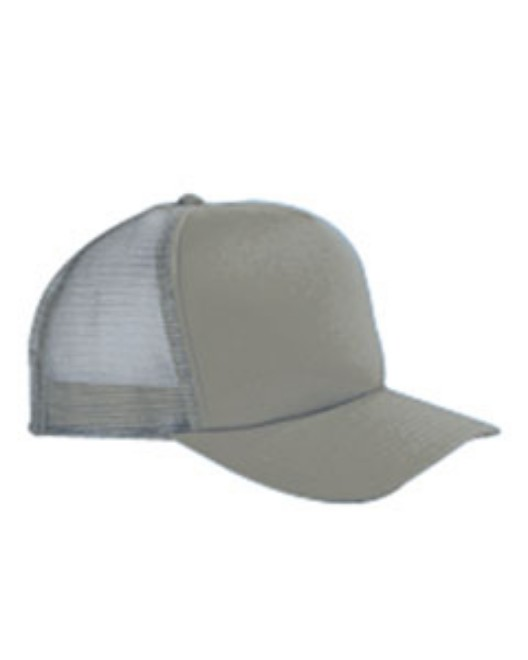 Picture of Big Accessories BX010 5-Panel Twill Trucker Cap