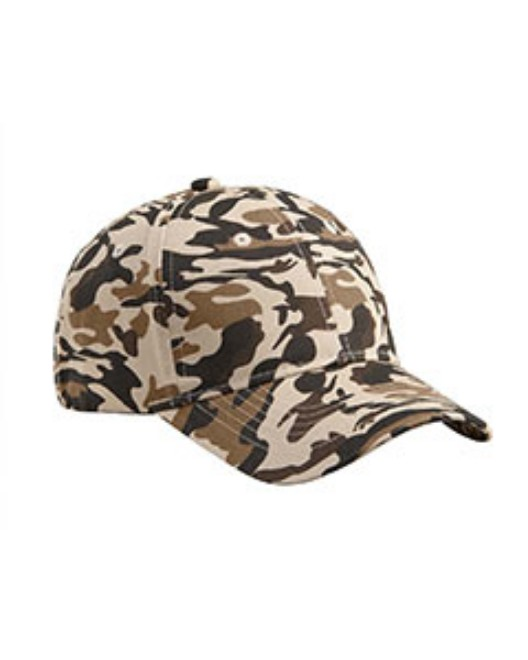 Picture of Big Accessories BX024 Structured Camo Hat