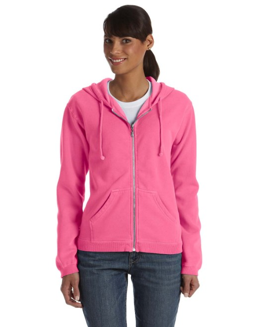 Picture of Comfort Colors C1598 Womens Full-Zip Hooded Sweatshirt