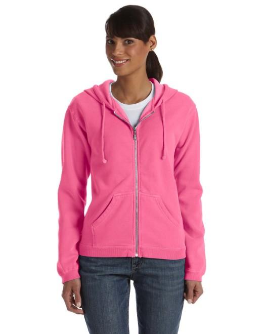 Picture of Comfort Colors C1598 Ladies' Full-Zip Hooded Sweatshirt
