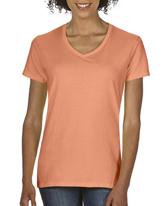Picture of Comfort Colors C3199 Womens  Midweight RS V-Neck T-Shirt