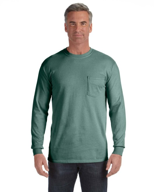 Picture of Comfort Colors C4410 Adult Heavyweight RS Long-Sleeve Pocket T-Shirt