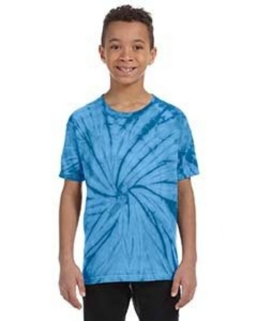 Picture of Tie-Dye CD101Y Youth 5.4 oz. 100% Cotton Spider T-Shirt