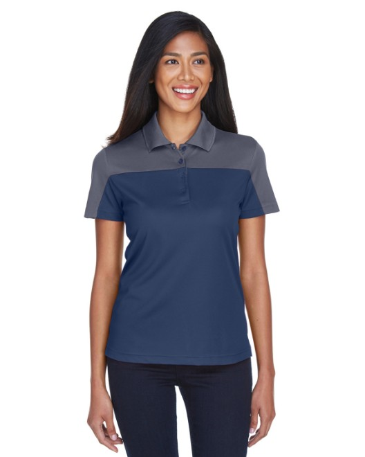 Picture of Ash City - Core 365 CE101W Womens Balance Colorblock Performance Pique Polo