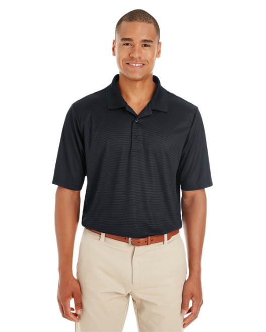 Picture of Ash City - Core 365 CE102 Men's Express Microstripe Performance Pique Polo