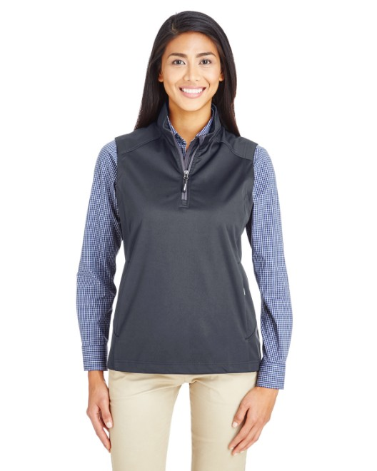 Picture of Ash City - Core 365 CE709W Womens Techno Lite Three-Layer Knit Tech-Shell Quarter-Zip Vest