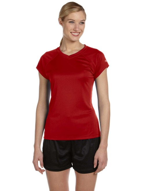 Picture of Champion CW23 Womens 4.1 oz. Double Dry V-Neck T-Shirt