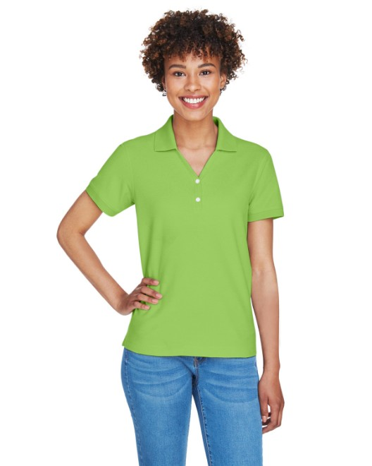 Picture of Devon & Jones D100W Womens Pima Pique Short-Sleeve Y-Collar Polo