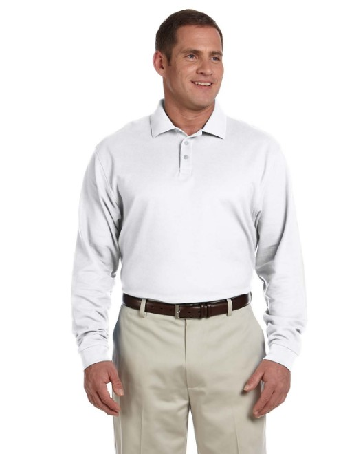 Picture of Devon & Jones D110 Men's Pima Pique Long-Sleeve Polo