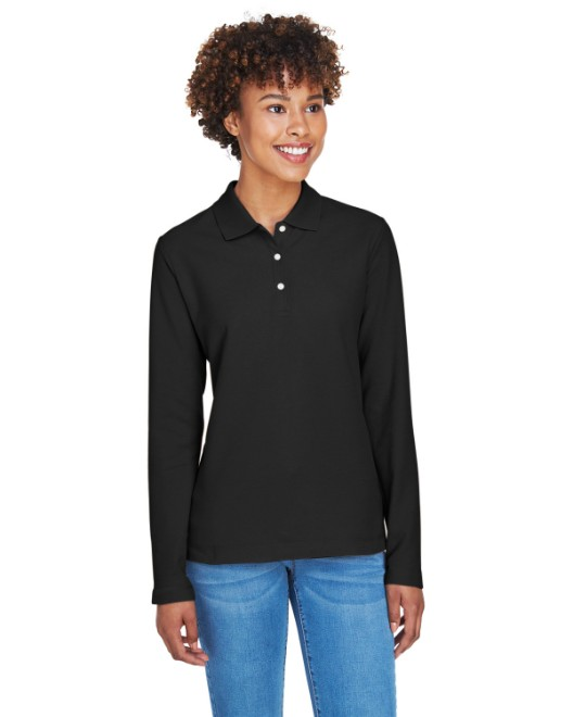 Picture of Devon & Jones D110W Womens Pima Pique Long-Sleeve Polo