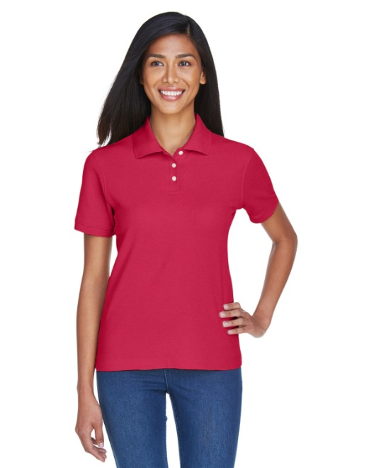 Picture of Devon & Jones D112W Womens Pima Pique Short-Sleeve Polo