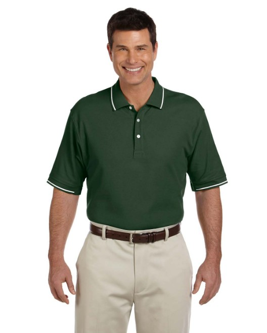Picture of Devon & Jones D113 Men's Pima Pique Short-Sleeve Tipped Polo
