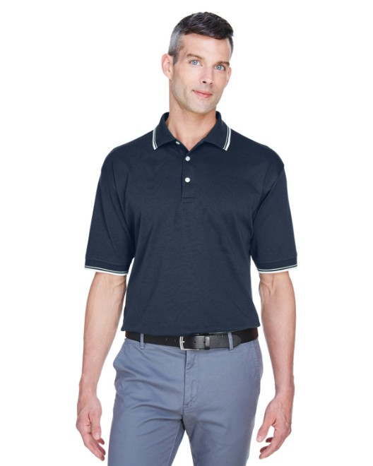 Picture of Devon & Jones D140 Men's Tipped Perfect Pima Interlock Polo