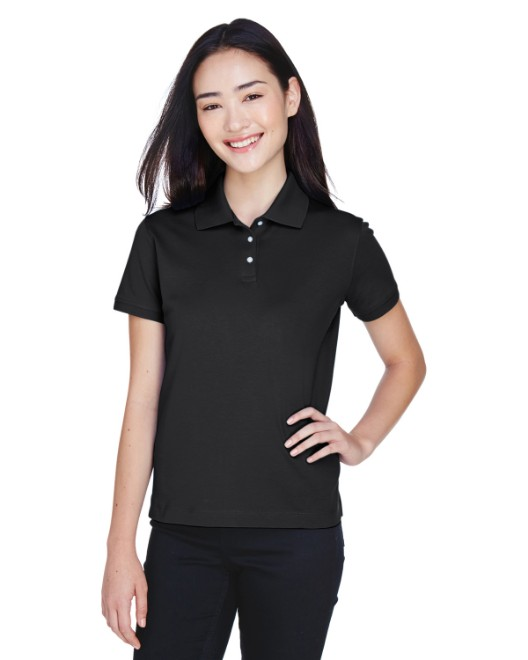 Picture of Devon & Jones D140SW Womens Solid Perfect Pima Interlock Polo