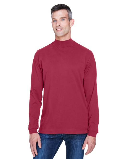 Picture of Devon & Jones D420 Adult Sueded Cotton Jersey Mock Turtleneck