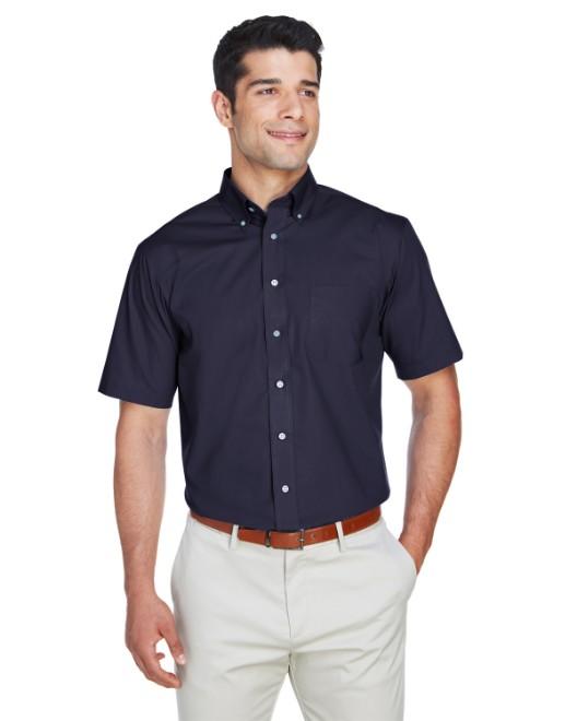Picture of Devon & Jones D620S Men's Crown Woven Collection SolidBroadcloth Short-Sleeve Shirt