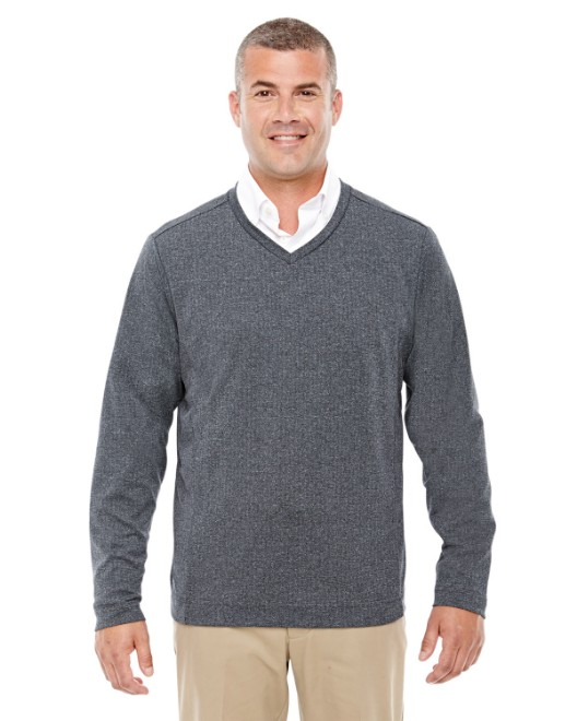 Picture of Devon & Jones D884 Adult Fairfield Herringbone V-Neck Pullover