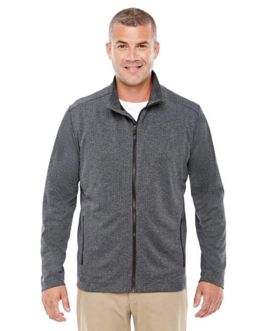 Picture of Devon & Jones D885 Men's Fairfield Herringbone Full-Zip Jacket