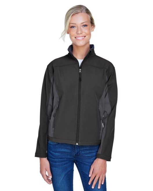 Picture of Devon & Jones D997W Womens Soft Shell Colorblock Jacket