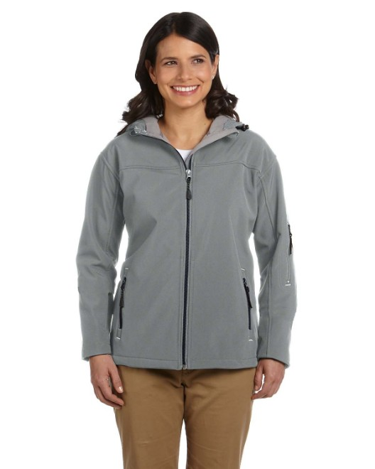 Picture of Devon & Jones D998W Womens Soft Shell Hooded Jacket