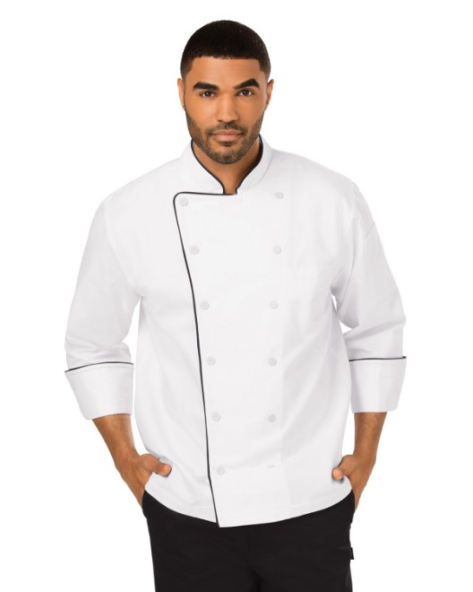 Picture of Dickies Chef DC42B Unisex Executive Chef Coat with Piping