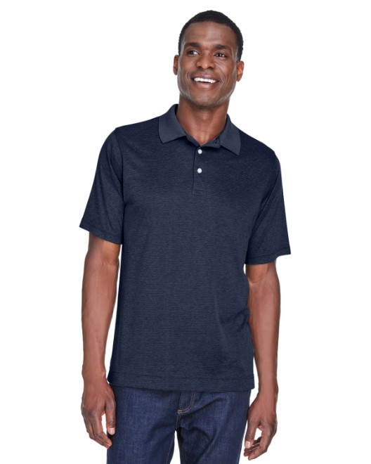 Picture of Devon & Jones DG210 Men's Pima-Tech Jet Pique Heather Polo