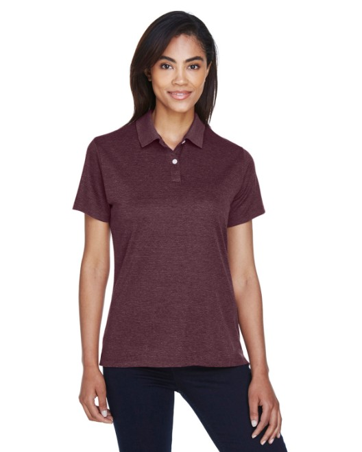 Picture of Devon & Jones DG210W Womens Pima-Tech Jet Pique Heather Polo