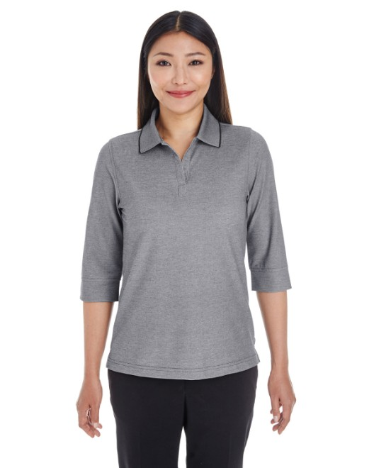 Picture of Devon & Jones DG220W Womens Pima-Tech Oxford Pique Polo