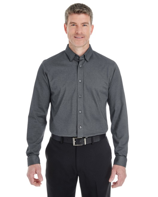 Picture of Devon & Jones DG230 Men's Central Cotton Blend Melange Button-Down