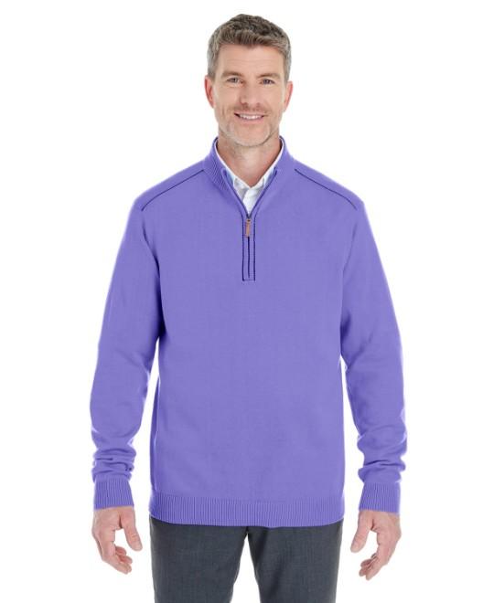 Picture of Devon & Jones DG478 Men's Manchester Fully-Fashioned Quarter-Zip Sweater