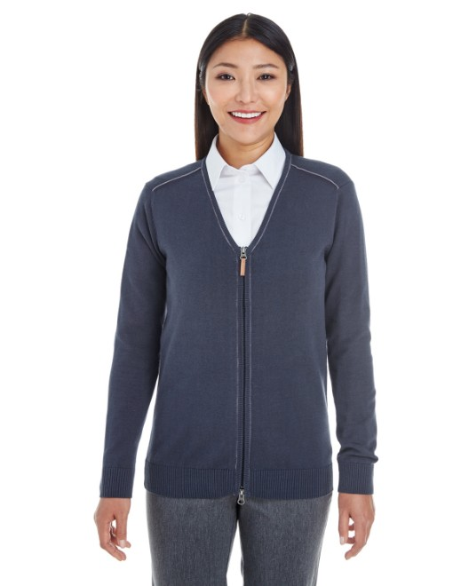 Picture of Devon & Jones DG478W Womens Manchester Fully-Fashioned Full-Zip Sweater