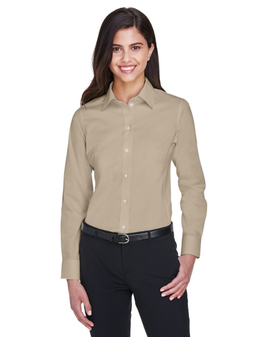 Picture of Devon & Jones DG530W Womens Crown Woven Collection Solid Stretch Twill