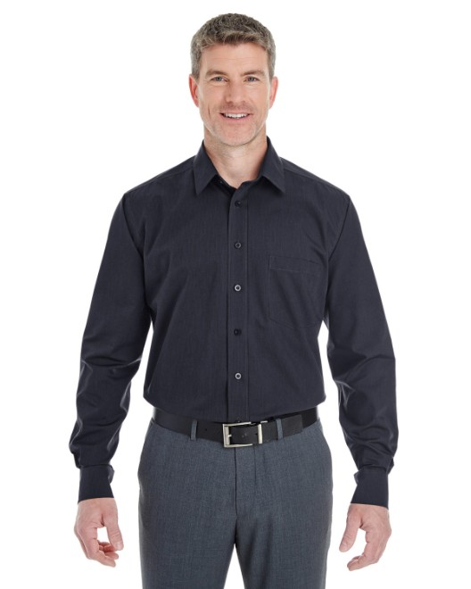 Picture of Devon & Jones DG534 Men's Crown Woven Collection StripedShirt