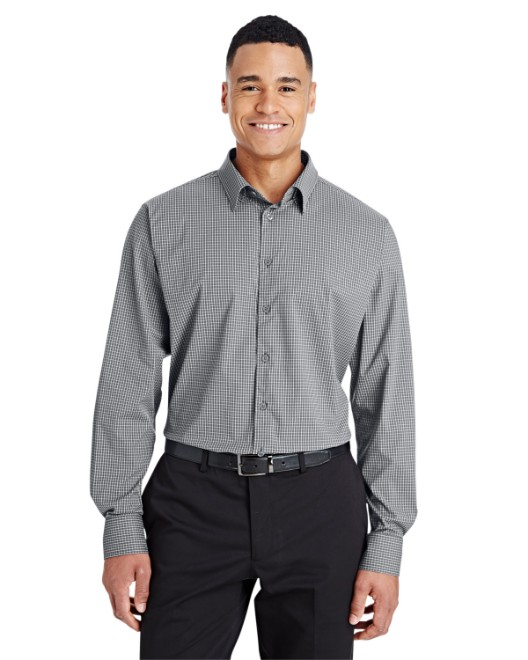 Picture of Devon & Jones DG535 CrownLux Performance Men's Tonal Mini Check Shirt