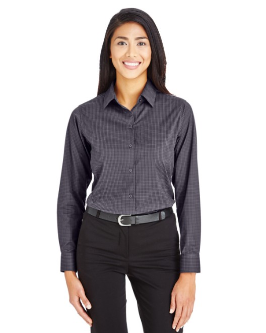 Picture of Devon & Jones DG535W CrownLux Performance Womens Tonal Mini Check Shirt