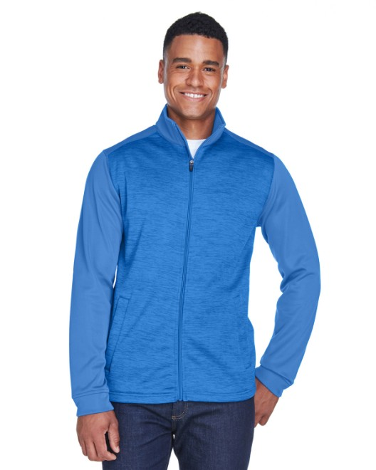 Picture of Devon & Jones DG796 Men's Newbury Colorblock Melange Fleece Full-Zip