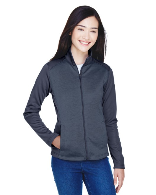 Picture of Devon & Jones DG796W Womens Newbury Colorblock Melange Fleece Full-Zip