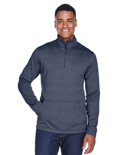 Picture of Devon & Jones DG798 Men's Newbury Melange Fleece Quarter-Zip