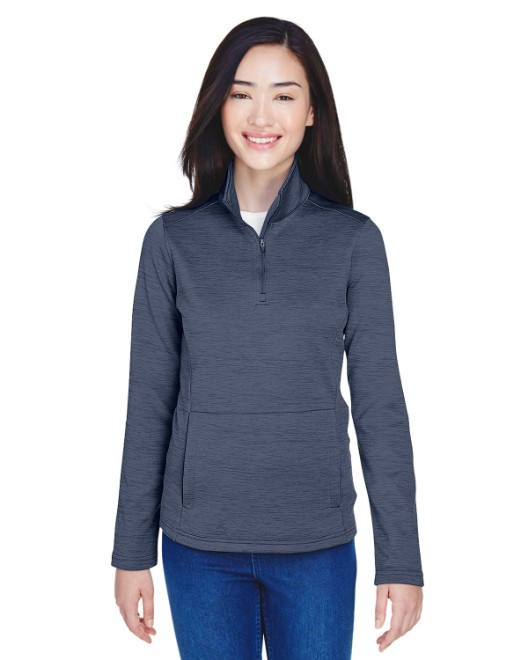 Picture of Devon & Jones DG798W Womens Newbury Melange Fleece Quarter-Zip