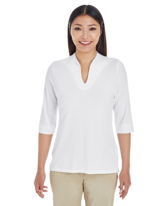 Picture of Devon & Jones DP188W Womens Perfect Fit Tailored Open Neckline Top