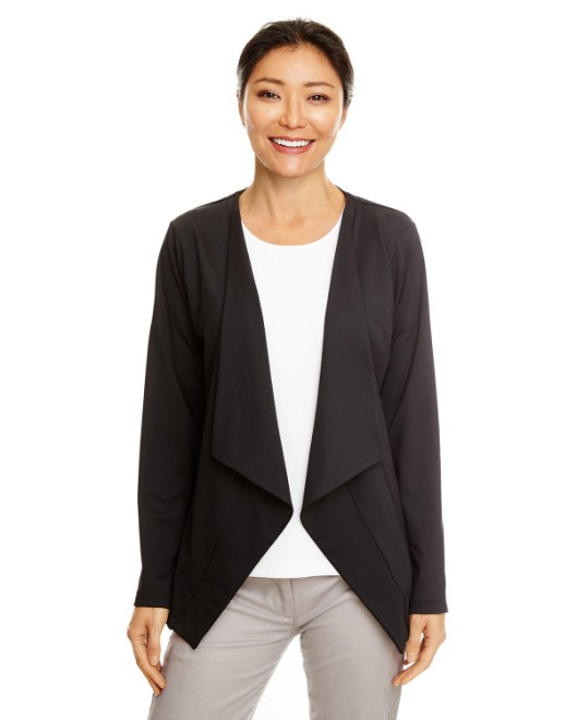 Picture of Devon & Jones DP465W Womens Perfect Fit Draped Open Blazer