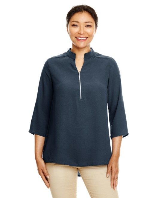 Picture of Devon & Jones DP611W Womens Perfect Fit  3/4-Sleeve Crepe Tunic