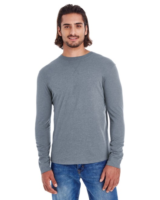 Picture of econscious EC1588 Men's Heather Sueded Long-Sleeve Jersey