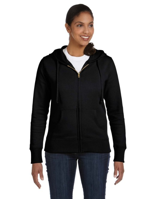 Picture of econscious EC4501 Womens 9 oz. Organic/Recycled Full-Zip Hood