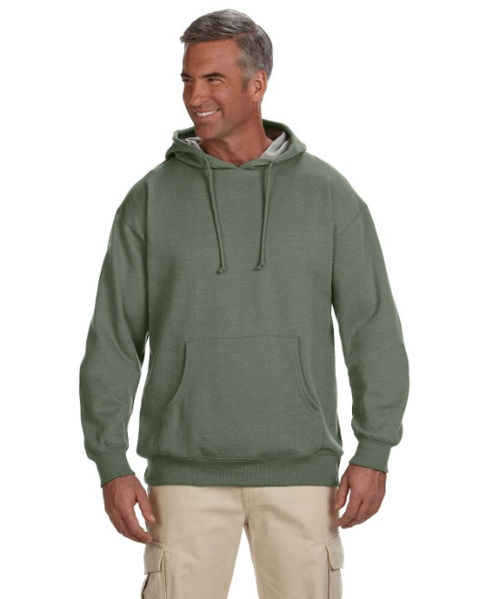 Picture of econscious EC5570 Adult 7 oz. Organic/Recycled Heathered Fleece Pullover Hood