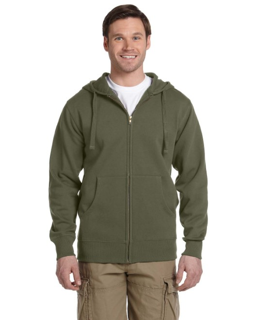 Picture of econscious EC5650 Men's 9 oz. Organic/Recycled Full-Zip Hood