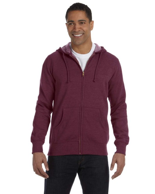 Picture of econscious EC5680 Men's 7 oz. Organic/Recycled Heathered Full-Zip Hood