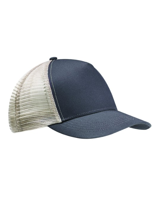 Picture of econscious EC7065 Recycled Semi-Curve 5-Panel Trucker