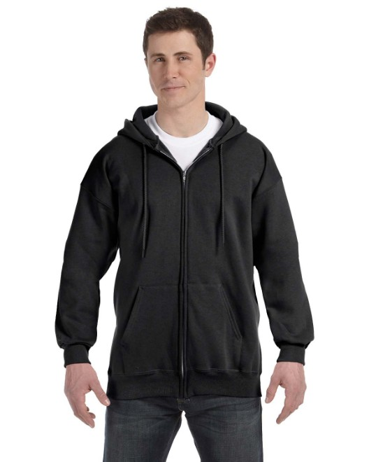 Picture of Hanes F280 Adult 9.7 oz. Ultimate Cotton 90/10 Full-Zip Hood