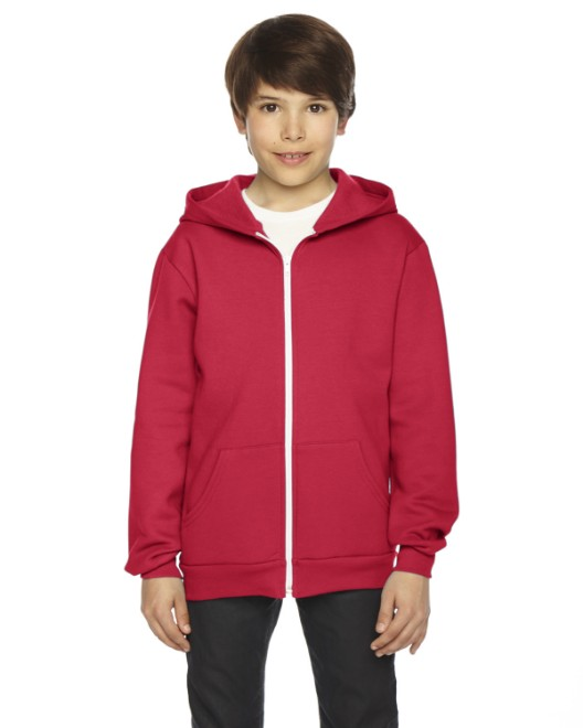 Picture of American Apparel F297W Youth Flex Fleece Zip Hoodie